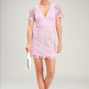 NWT! pink lace mini dress